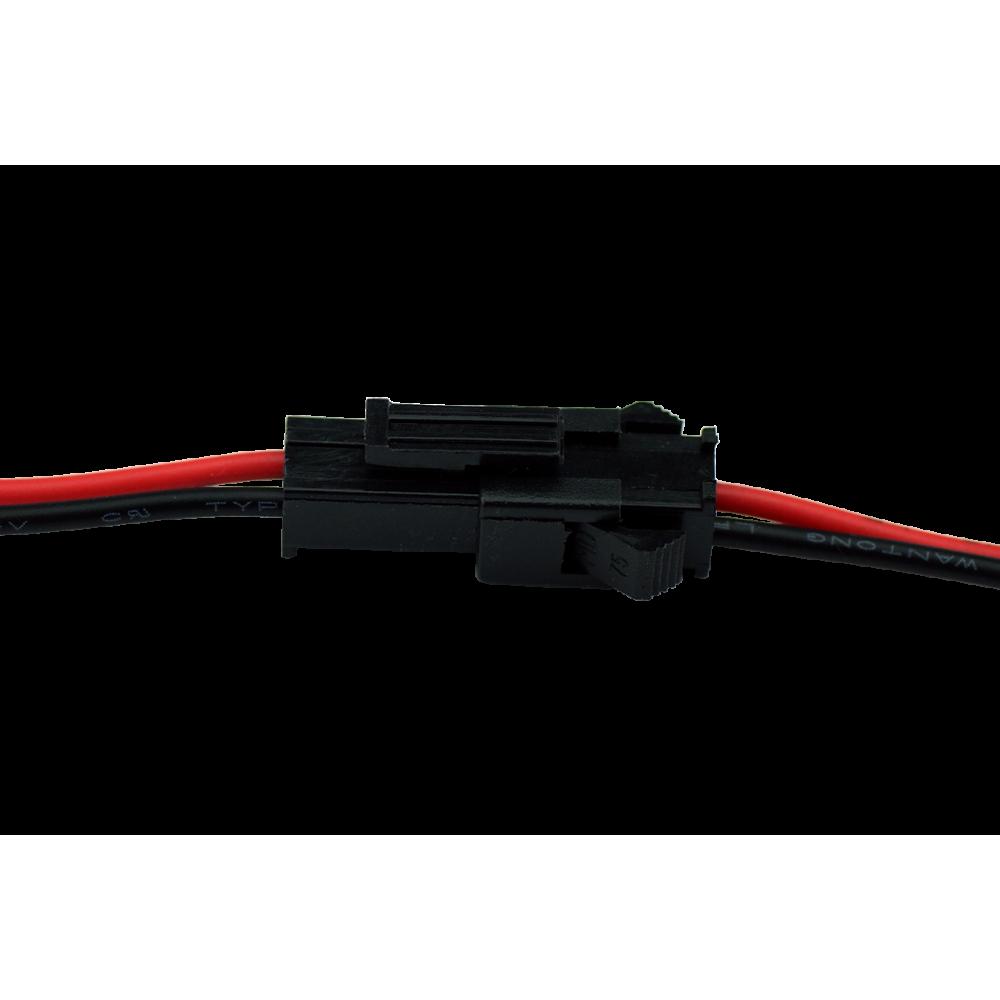 LEDIMAX Stecker/Buchse 2polig je 10cm Kabel, — led-dealer.de