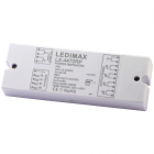 LEDIMAX Power Repeater SingleColor/RGB/RGBW 12-24V 4x7A